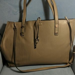 Large Grey Calvin Klein Tote with Clutch
